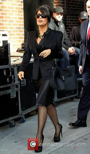 Salma Hayek 'The Late Show with David Letterman' held at the Ed Sullivan Theatre - Arrivals New York City, USA...