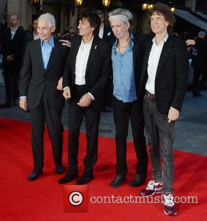 Charlie Watts, Ronnie Wood, Keith Richards, Mick Jagger and Rolling Stones