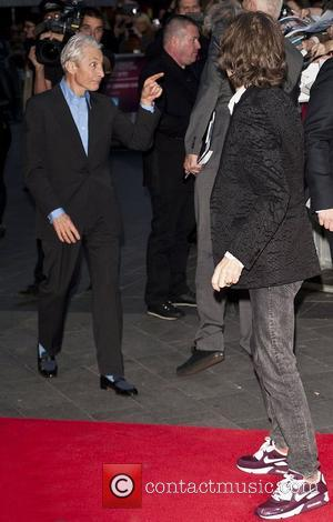 Mick Jagger and Charlie Watts 56th BFI London Film Festival - 'The Rolling Stones: Crossfire Hurricane' - Gala Screening -...