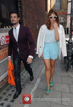 Gemma Arterton and husband Stefano Catelli London Fashion Week Spring/Summer 2013 - Holly Fulton - Outside Arrivals. London, England -...