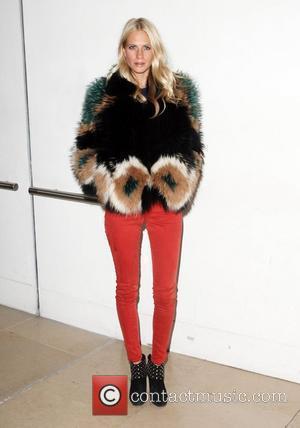 Poppy Delevigne London Fashion Week - Autumn/Winter 2012 - Matthew Williamson - Front Row London, England - 19.02.12