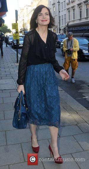 Elizabeth McGovern London Fashion Week Spring/Summer 2013 - Mulberry - Outside Arrivals London, England - 18.09.12