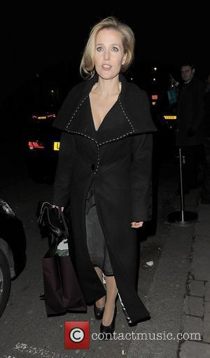 Gillian Anderson London Fashion Week Autumn/Winter 2012 Mulberry Private Dinner - Departures London, England - 19.02.12