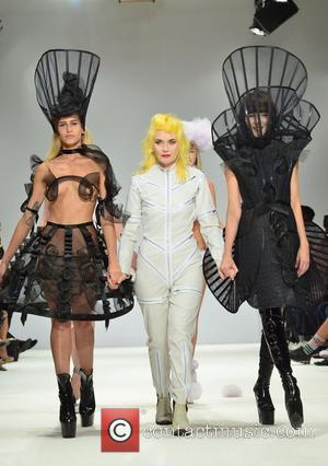 Alice Dellal Bares (Mostly) All For LFW Show