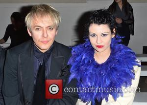 Nick Rhodes and Guest London Fashion Week - Autumn/Winter 2012 - Pam Hogg - Front Row London, England - 19.02.12