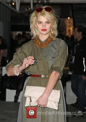Pixie Geldof London Fashion Week Autumn/Winter 2012 - TopShop - Front Row London, England - 19.02.12