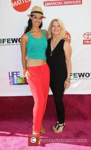 Jessica Clark and Barbara Niven L.A. Gay & Lesbian Center's LifeWorks Program Block Party of the Summer 'Life Out Loud'...