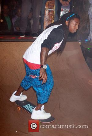 Lil Wayne rides a skateboard at 1 OAK Nightclub inside The Mirage hotel and Casino  Las Vegas, Nevada -...