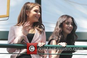 Lily Collins and Maria Menounos