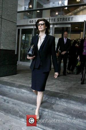 Linda Evangelista is seen exiting Family Court after signing the legal documents securing her child support payments New York City,...