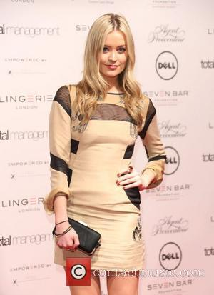 Laura Whitmore Lingerie London, Agent Provocateur and Atsuko Kudo fashion show gala held at Old Billingsgate - arrivals London, England...