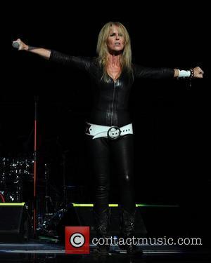 Lita Ford performs during the Rock of Ages Tour 2012 at the Bank Atlantic Center  Sunrise , Florida -...