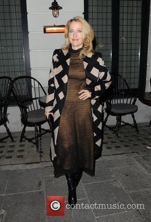 Gillian Anderson at Little House restaurant in Mayfair. London, England - 15.10.12