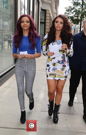 Jade Thirlwall and Jesy Nelson of Little Mix arriving at the Radio 1 studios. London, England - 28.08.12