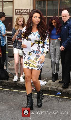 Jesy Nelson of Little Mix arriving at the Radio 1 studios. London, England - 28.08.12
