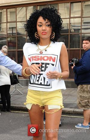 Leigh-Anne Pinnock of Little Mix arriving at the Radio 1 studios. London, England - 28.08.12