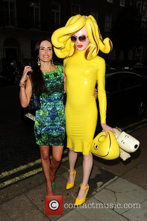 Sophie Anderton and Pandamonium outside the Arch Hotel  London, England - 27.06.12