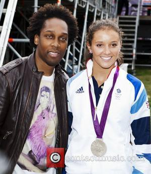Lemar & Laura Robson - Olympic silver medallist in Tennis Mixed Doubles  at BT London Live 2012 in Hyde...