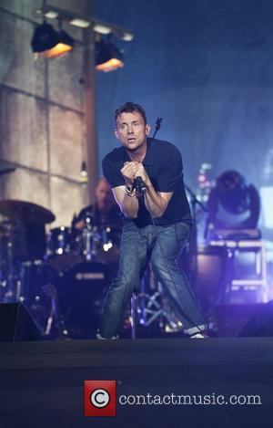 Blur  performs on stage during the BT London Live closing ceremony concert at Hyde Park  London, England -...