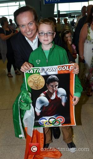 Marty Morrissey Medal winners from the Irish Olympic team arrive at Dublin Airport after returning home from the London 2012...
