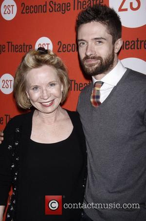Debra Jo Rupp and Topher Grace Opening night after party of the Off-Broadway play 'Lonely, I'm Not' at the Second...