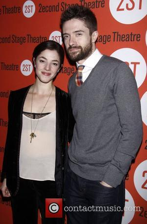 Olivia Thirlby and Topher Grace  Opening night after party of the Off-Broadway play 'Lonely, I'm Not' at the Second...