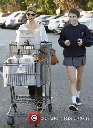 Lori Loughlin with her daughter Isabella Rose Giannulli leaving Bristol Farms with their groceries. Los Angeles, California - 07.11.12