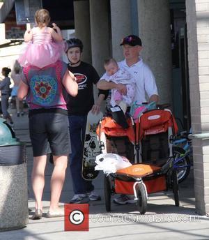 Neal McDonough and his family shopping at Rite Aid Los Angeles, California - 18.02.12