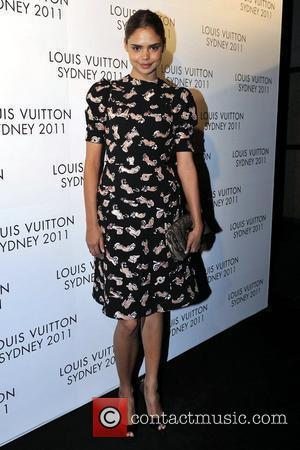 Samantha Harris arrives at the instore cocktail party celebrating the opening of the Louis Vuitton Australian flagship 'Maison' store. The...