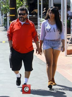 Actor Luis Guzman seen at Fred Segal with a female companion West Hollywood, California - 17.04.12