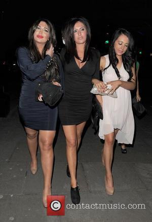 Lauren Goodger and her sisters Nicola Goodger and Rianna Goodger leaving Lydia Rose Bright's 21st birthday party, held at Gilgamesh...