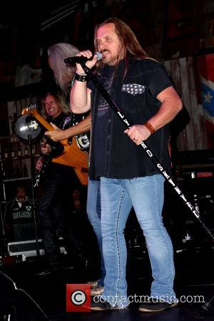 Johnny Van Zant of Lynyrd Skynyrd Lynyrd Skynyrd BBQ & Beer to celebrate the grand opening at Excalibur Hotel and...