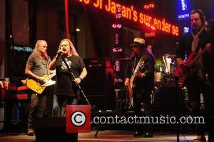 Lynyrd Skynyrd perform live outside Fox News studio as part of the Fox and Friends All-American concert series New York...