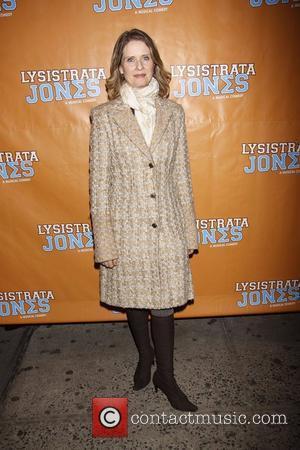 Cynthia Nixon  Broadway opening night of 'Lysistrata Jones' at the Walter Kerr Theatre - Arrivals.  New York City,...