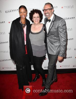 Margaret Steele (C) and guests Macy's Passport Presents: Glamorama - 30th Anniversary in Los Angeles held at The Orpheum Theatre...