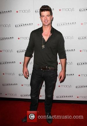 Robin Thicke Macy's Passport Presents: Glamorama - 30th Anniversary in Los Angeles held at The Orpheum Theatre - Arrivals Los...