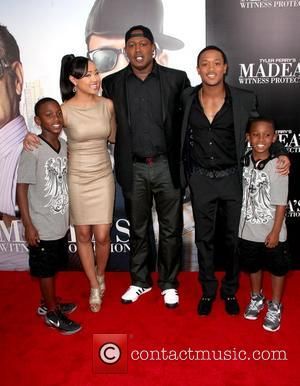 Cymphonique Miller, Master P., Romeo Miller, and two other sons,  at 'Tyler Perry's Madea's Witness Protection' New York premiere...