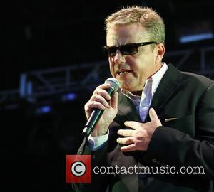 Suggs Madness performing at Newmarket Racecourse Suffolk, England - 22.06.12