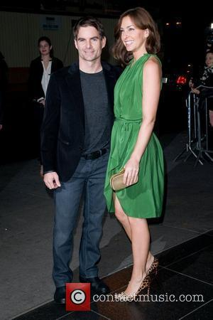 Jeff Gordon and Ingrid Vandebosch arrive at the Museum of Modern Art in New York to attend a screening of...