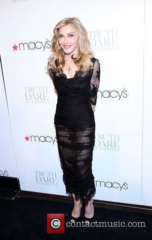 Madonna at the Truth or Dare by Madonna fragrance launch at Macy's New York City, USA - 12.04.12