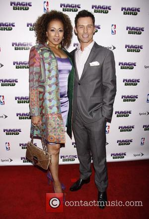 Tamara Tunie and Jeffrey Donovan  Broadway opening night of 'Magic/Bird' at the Longacre Theatre – Arrivals.  New York...