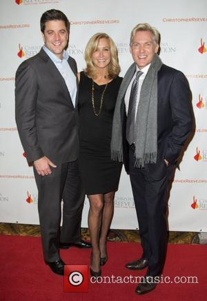 Josh Elliott, Lara Spencer, and Sam Champion 2012 Christopher & Dana Reeve Foundation's A Magical Evening benefit at Cipriani Wall...