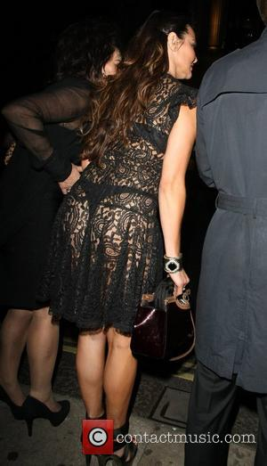 Lizzie Cundy outside Mahiki nightclub London, England - 29.09.12