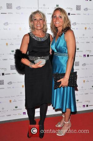 Ingrid Tarrant (L) and guest fundraising dinner to raise money for the Make A Wish Foundation and to mark The...