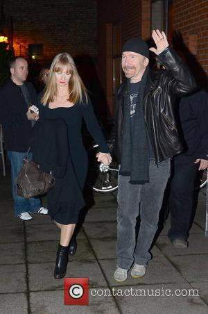 Ann Acheson; The Edge Opening night of 'Man on a Train', a film starring U2 drummer Larry Mullen Jr., held...