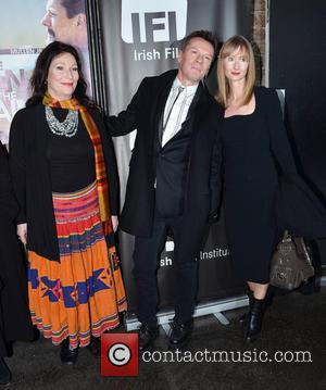 Kate O'Toole; Larry Mullen Jr; Ann Acheson Opening night of 'Man on a Train', a film starring U2 drummer Larry...