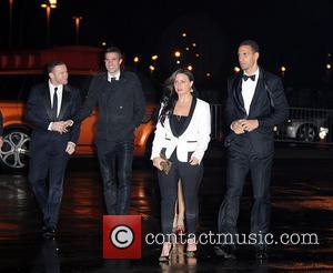 Wayne Rooney, Robin, Persi, Rebecca Ferdinand and Rio Ferdinand
