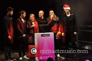 The Wanted Manchester Christmas Lights switch-on at Albert Square Manchester, England - 09.11.12