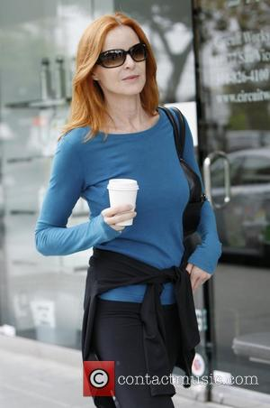 Marcia Cross grabs a coffee in Brentwood Los Angeles, California - 02.06.12