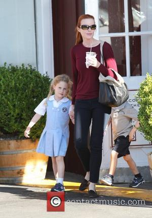 Marcia Cross at Farmers Martket in Brentwood with  family Los Angeles, California - 18.09.12